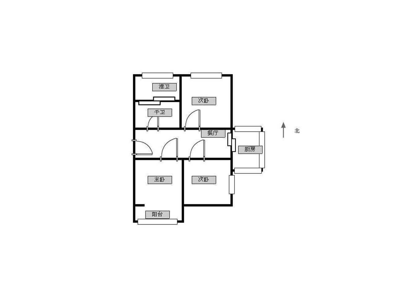鼓楼区宁海路匡芦路24号3室2厅户型图