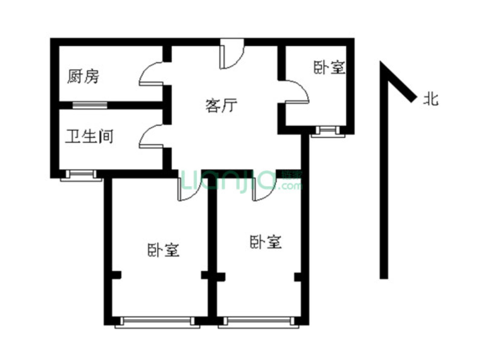 栖霞区迈皋桥中电颐和家园3室1厅户型图