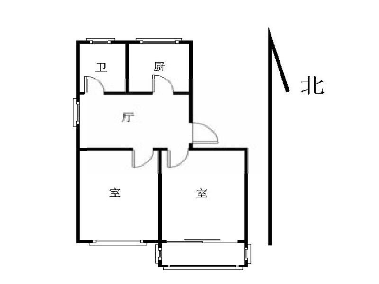 鼓楼区小市复地新都国际2室2厅户型图