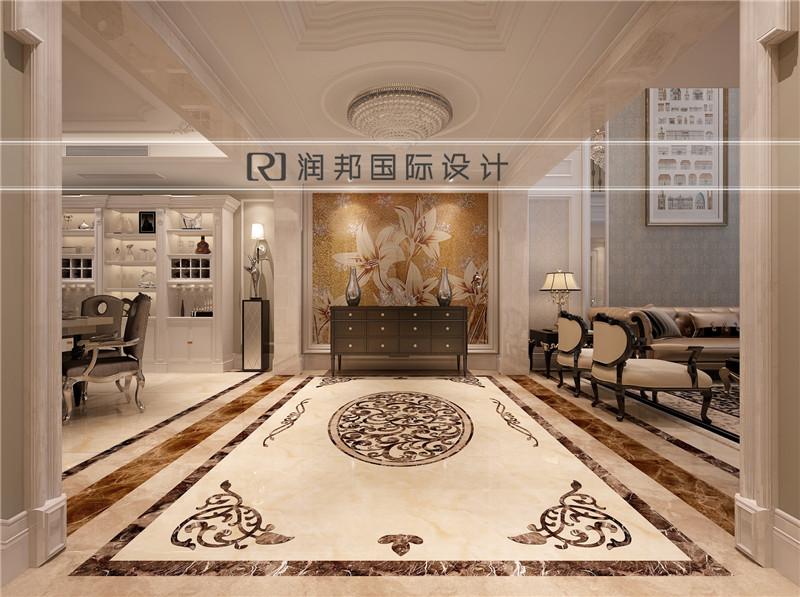 南京别墅装饰公司中式风格装修效果图过道效果图欣赏