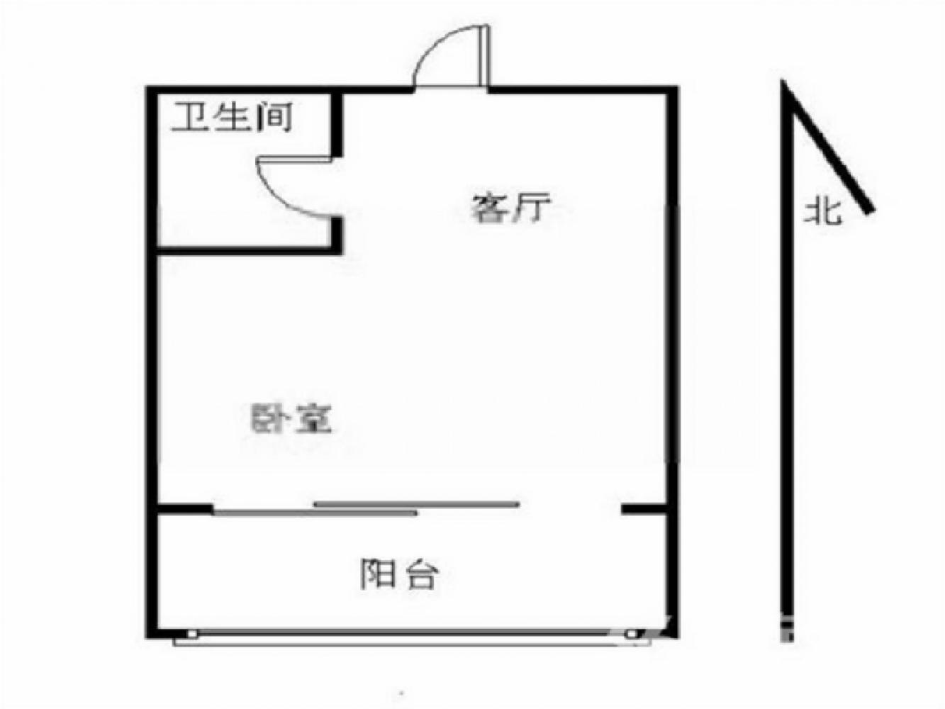 江宁区秣陵街道合家春天1室1厅户型图