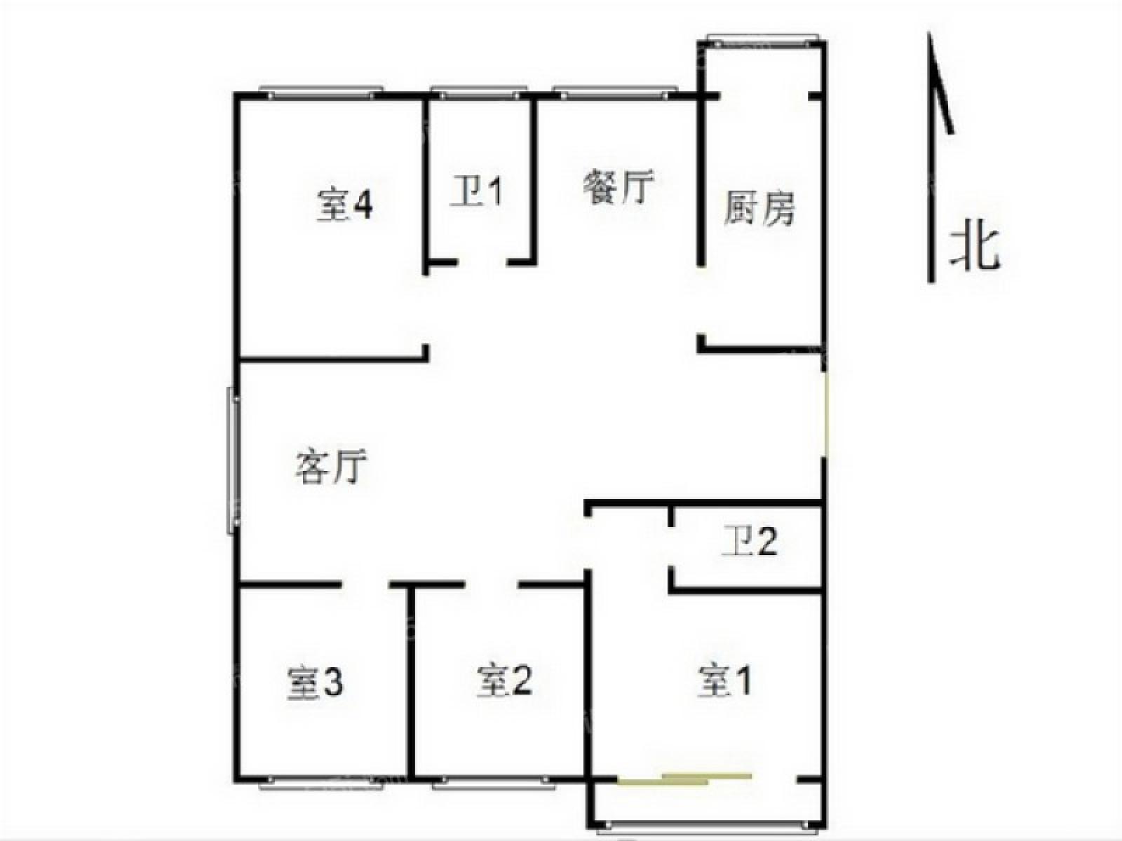 玄武区玄武门湖景花园3室2厅户型图