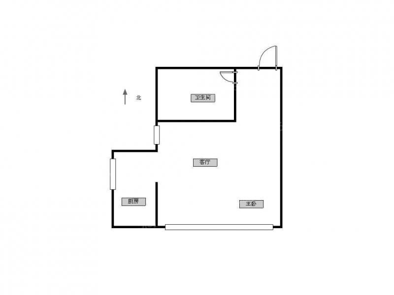 江宁区百家湖高尔夫国际花园1室1厅户型图