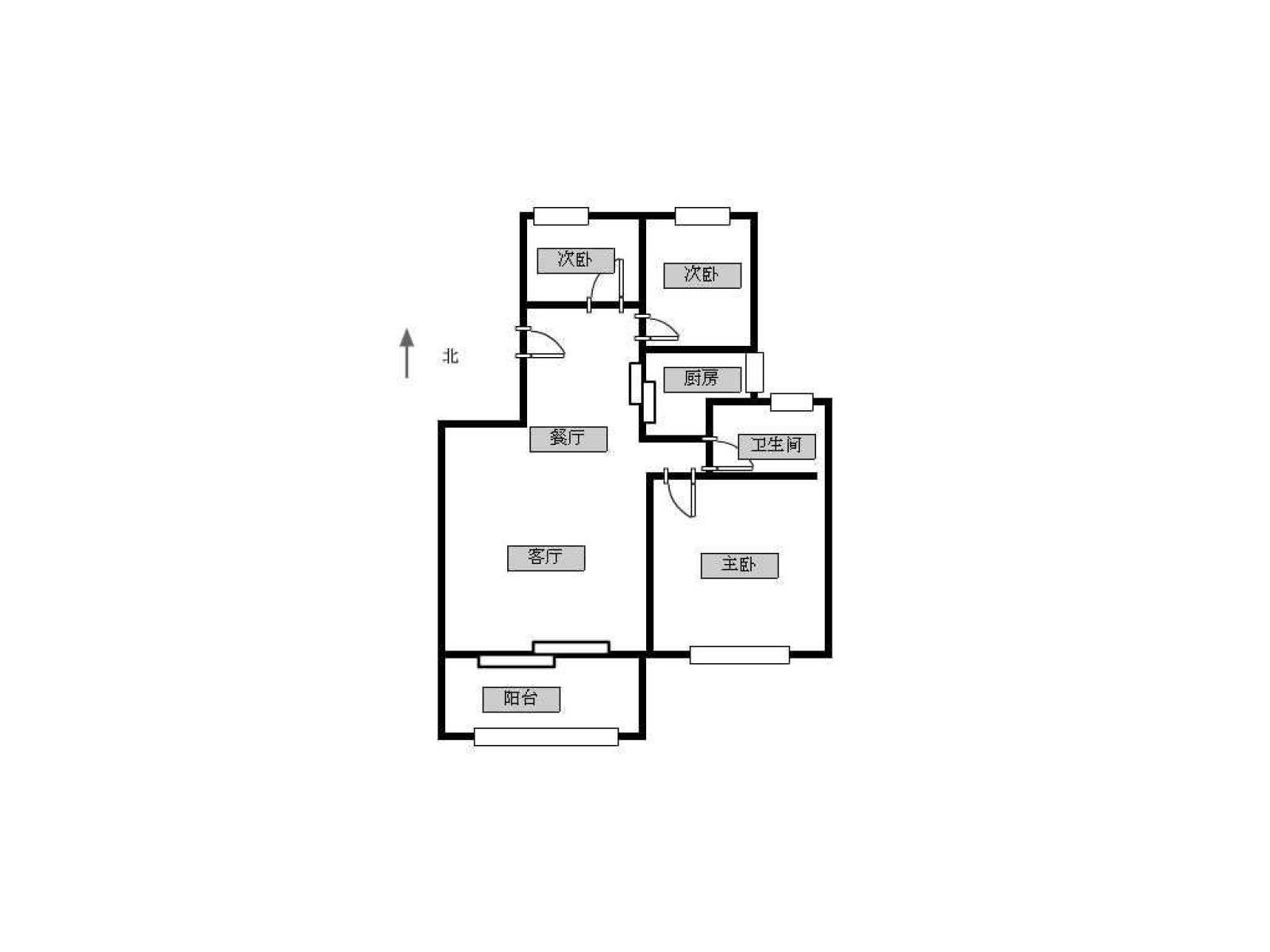 玄武区孝陵卫大发融悦3室2厅户型图