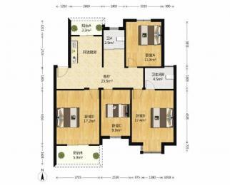 文鼎雅苑 3室2厅 南 北