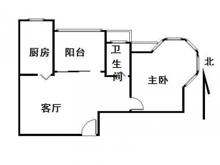 万江人和苑 63平大单室 可改两房 全明户型 新空毛坯 随时看房