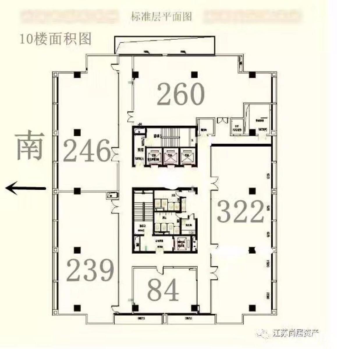 建邺区奥体安科大厦1室0厅户型图