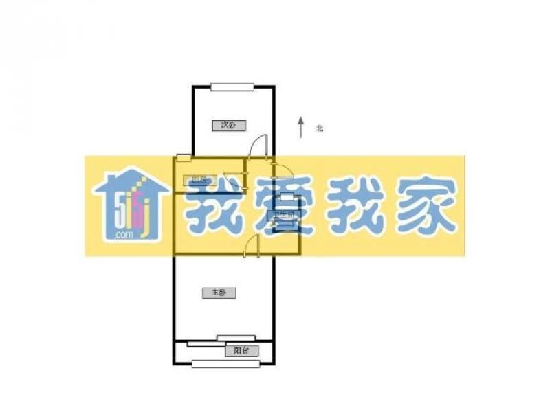 秦淮区新街口俞家巷小区2室1厅户型图