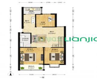 清水花苑 3室2厅 100平