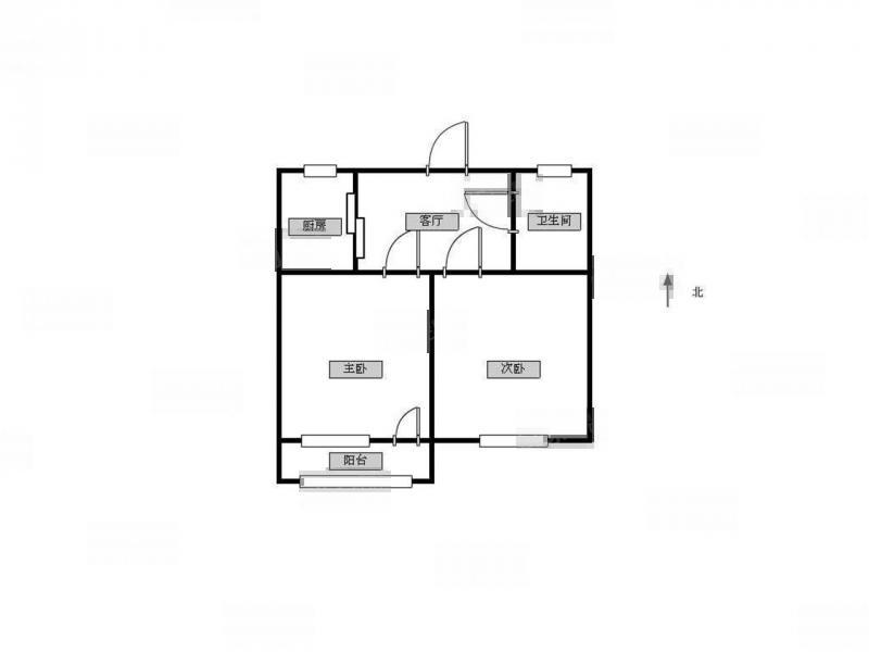 鼓楼区华侨路上海路79号2室1厅户型图