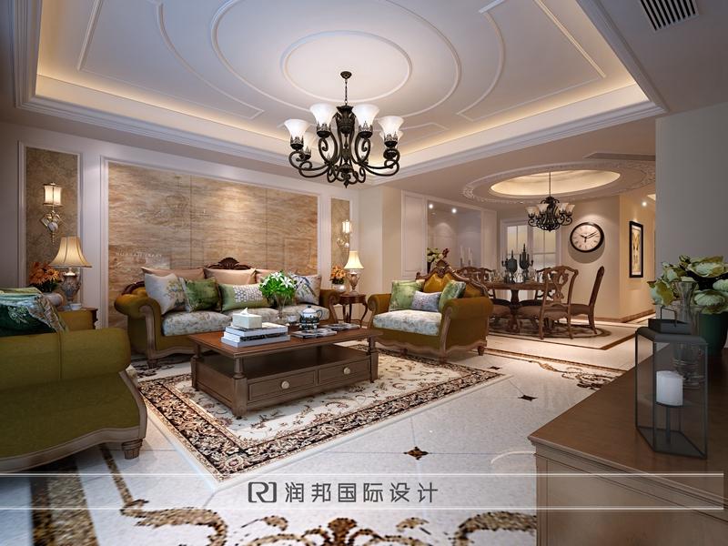 林茵里别墅住宅美式风格装修效果图卧室效果图欣赏